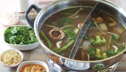 Asian vegetarian hot pot