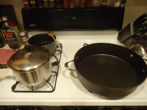 Look how huge it is on my stove top compared to my other cookware!